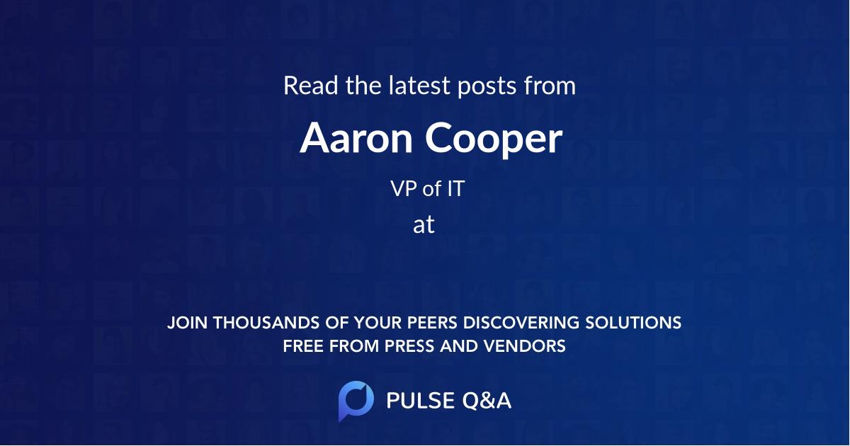 Aaron Cooper