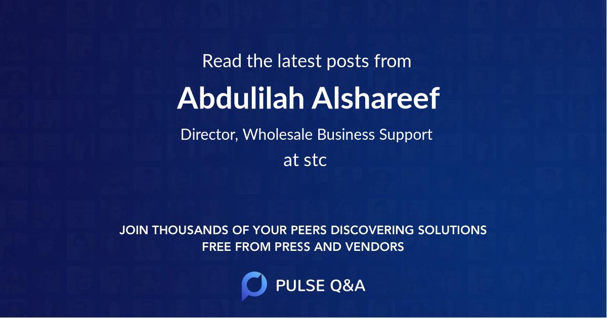 Abdulilah Alshareef
