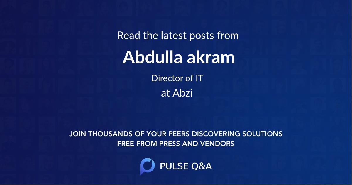 Abdulla akram