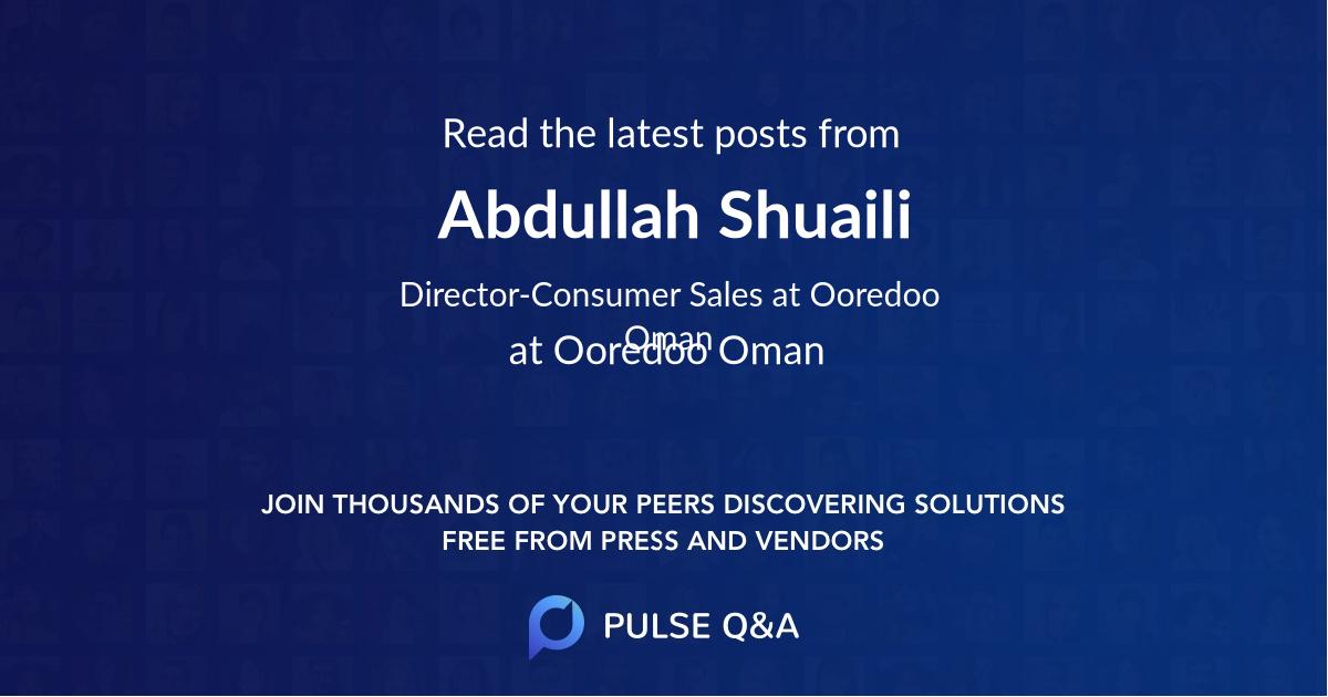 Abdullah Shuaili