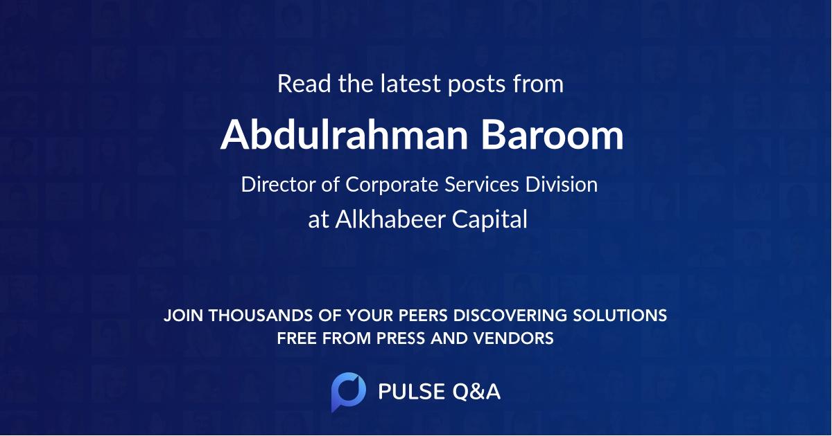 Abdulrahman Baroom