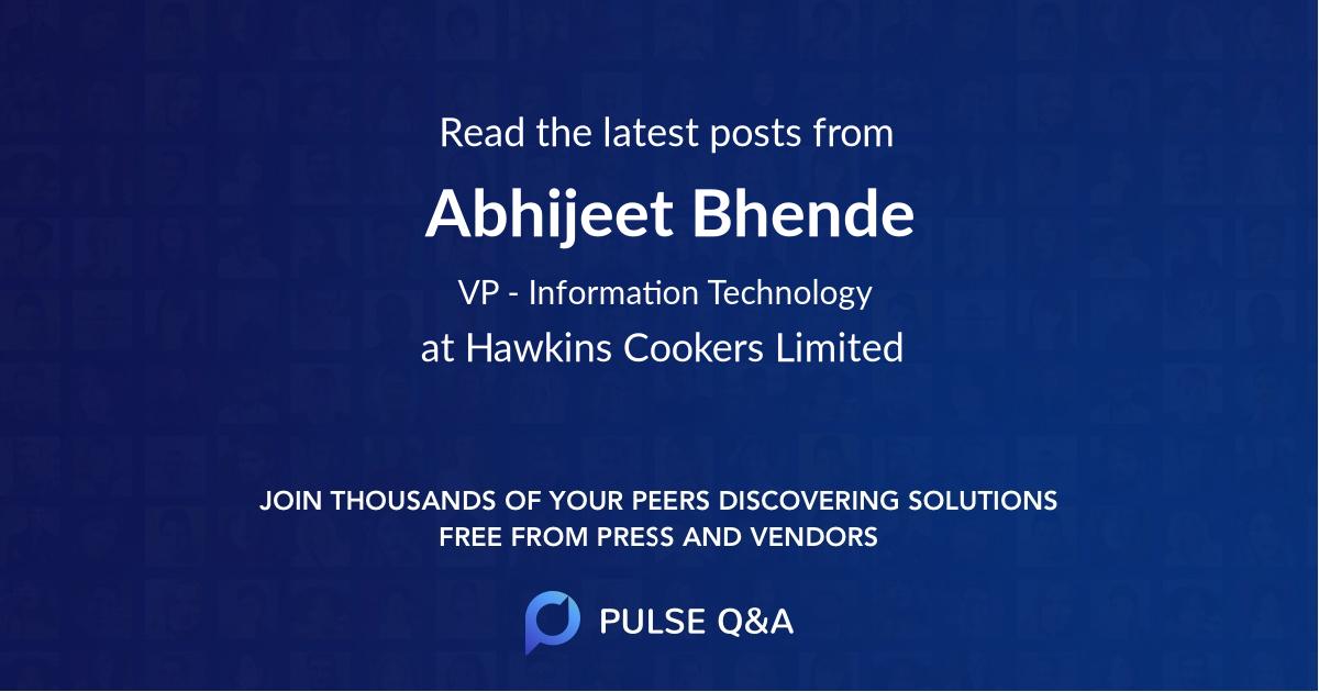 Abhijeet Bhende