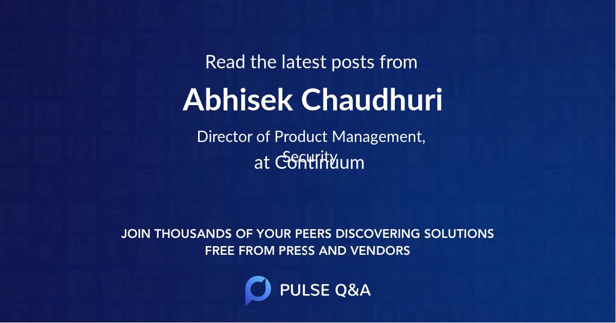 Abhisek Chaudhuri