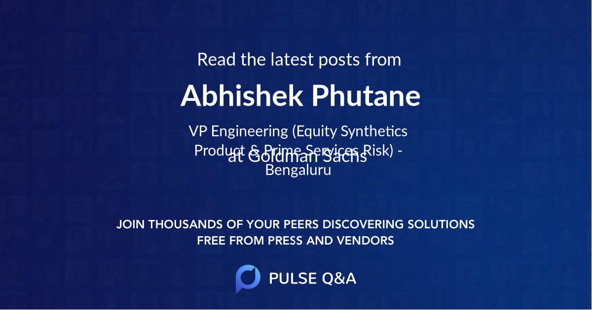 Abhishek Phutane
