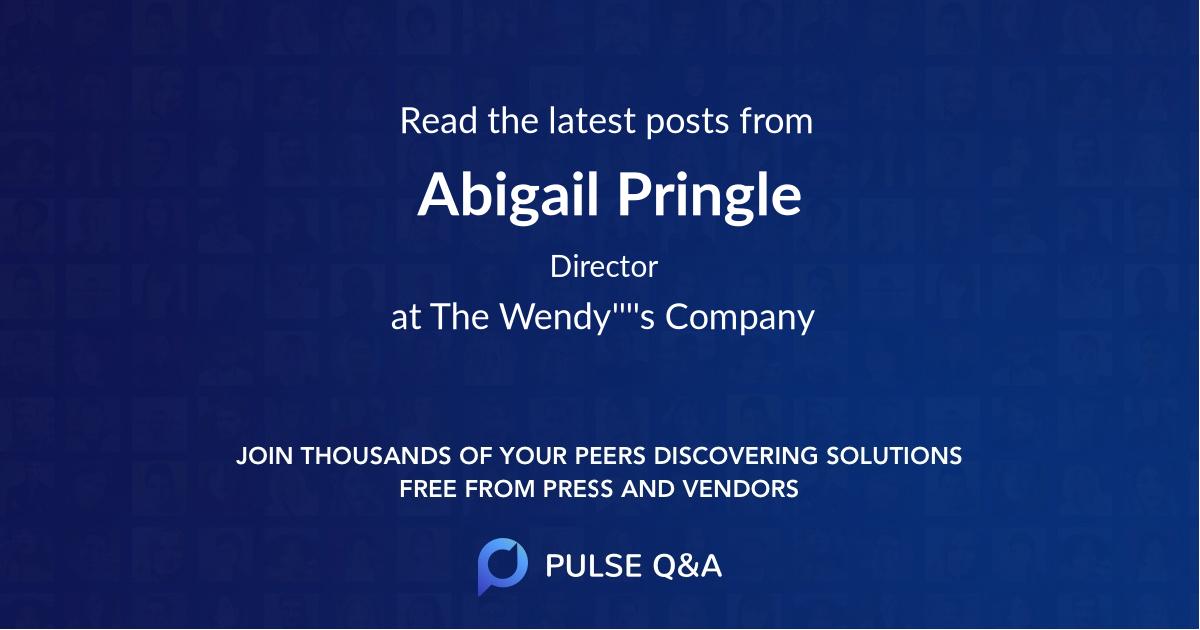 Abigail Pringle