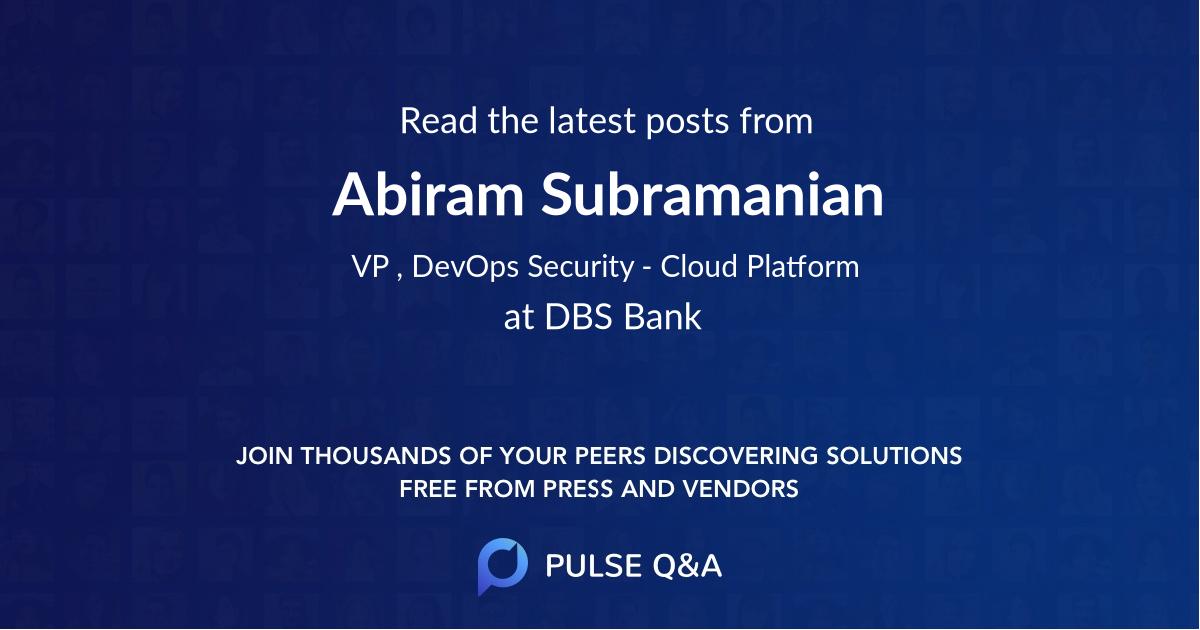 Abiram Subramanian