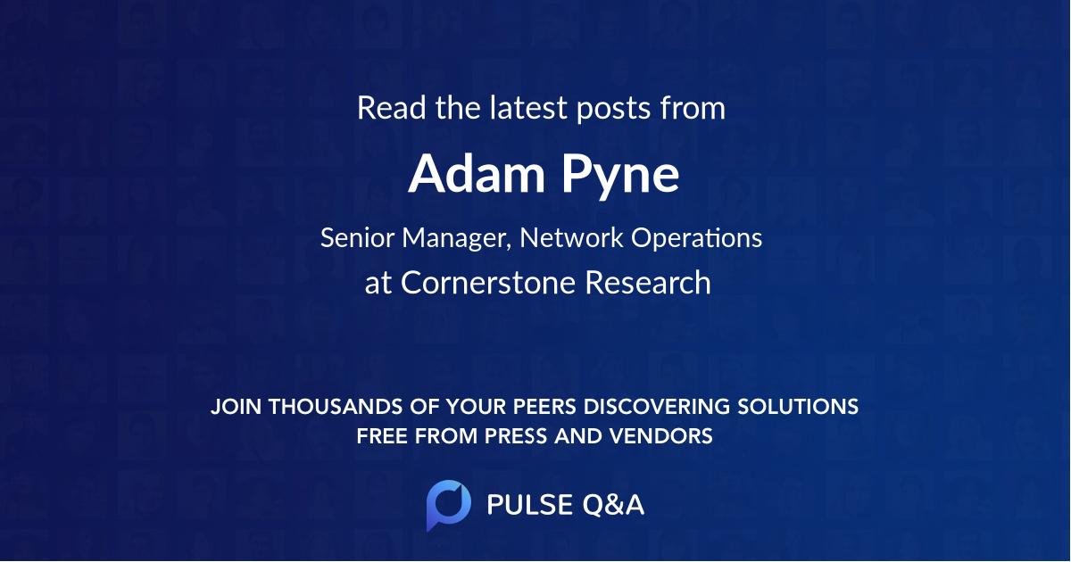 Adam Pyne