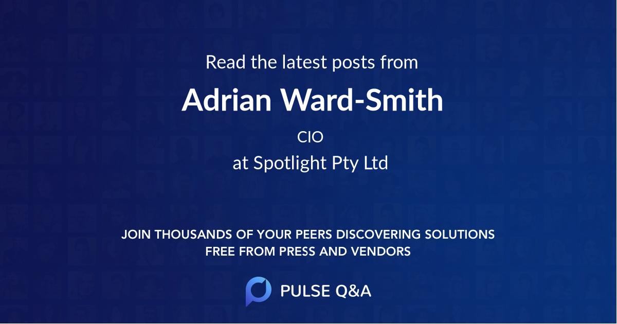 Adrian Ward-Smith