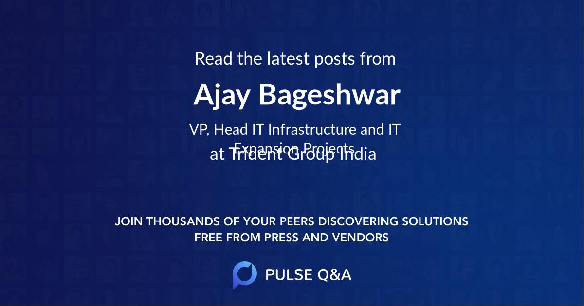 Ajay Bageshwar