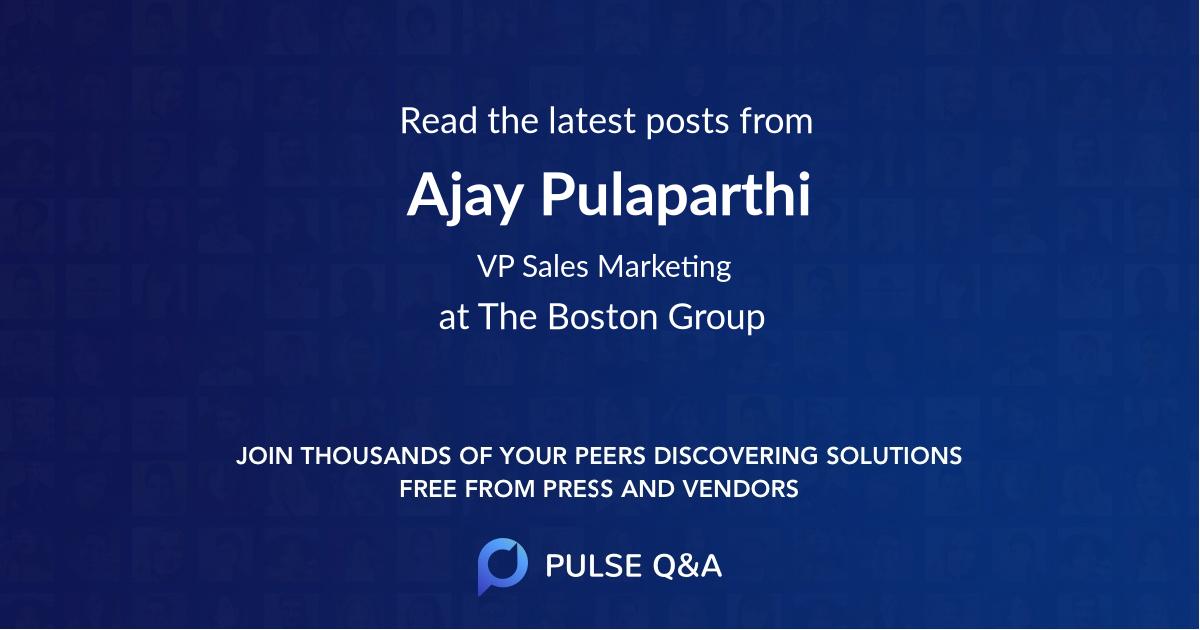 Ajay Pulaparthi