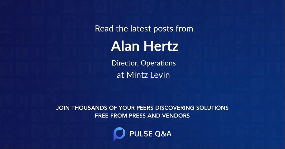 Alan Hertz