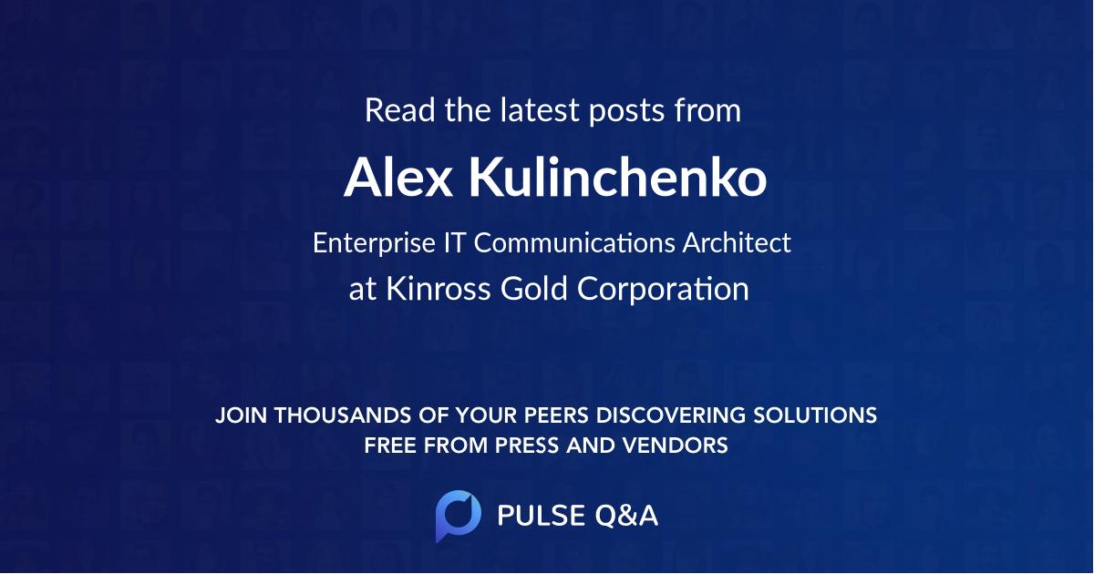 Alex Kulinchenko