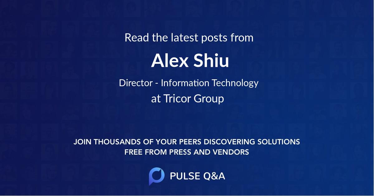 Alex Shiu