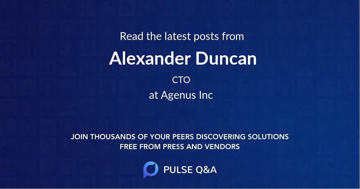 Alexander Duncan