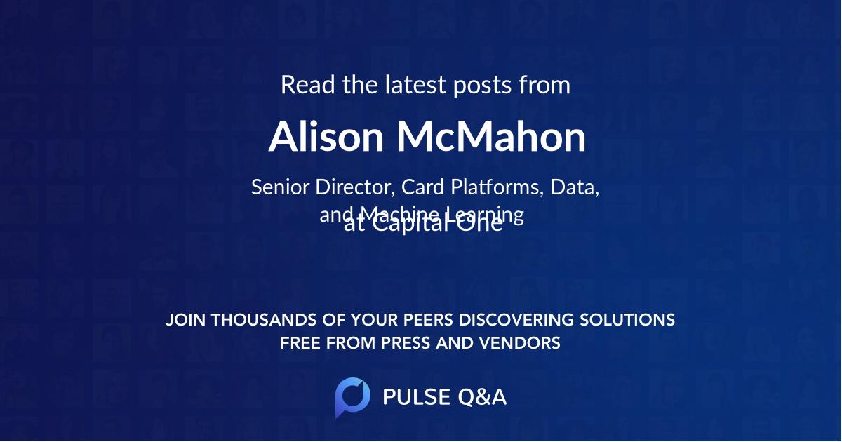 Alison McMahon