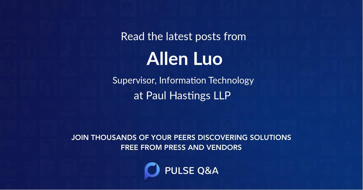 Allen Luo