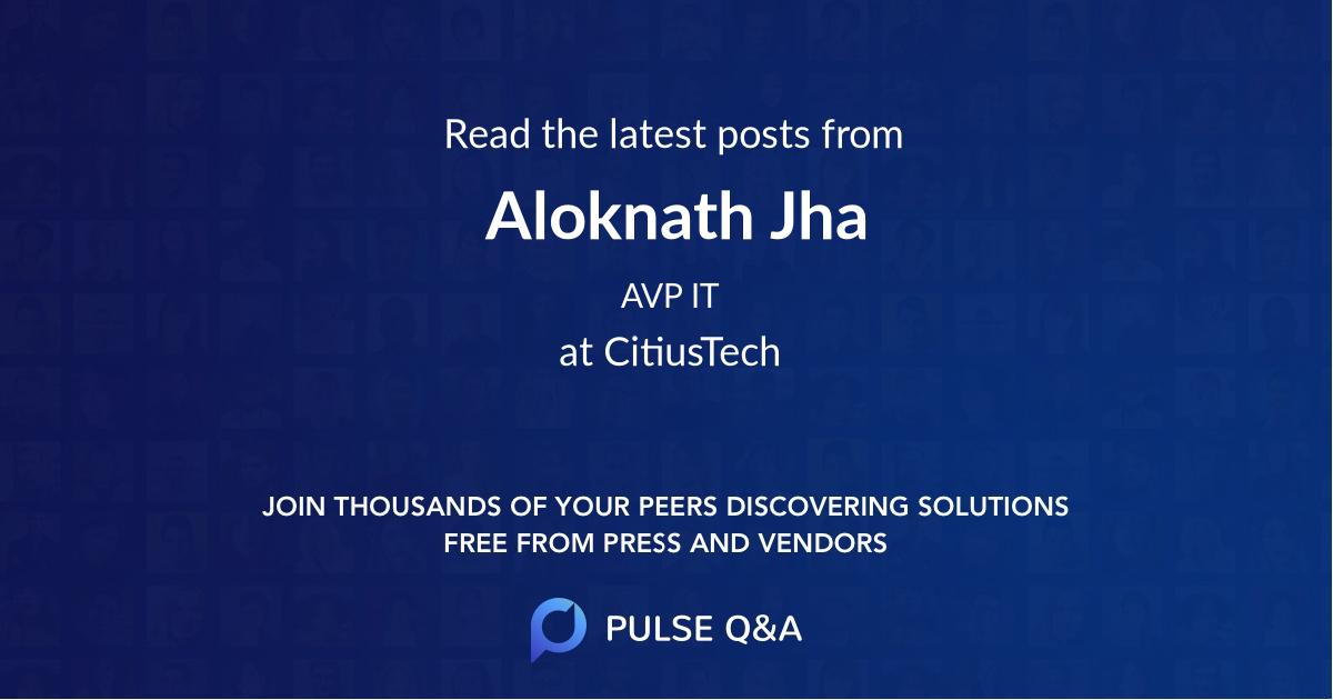 Aloknath Jha