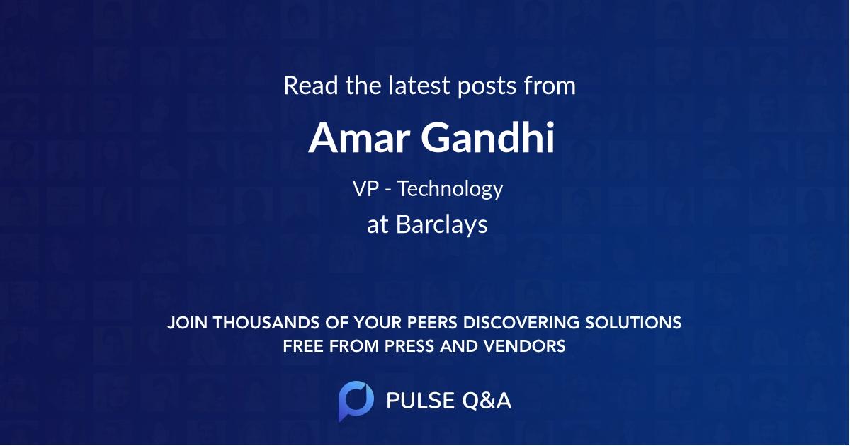 Amar Gandhi