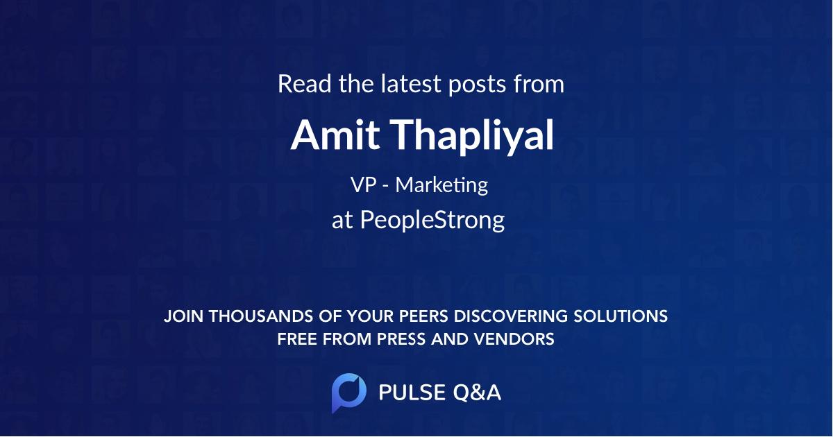 Amit Thapliyal