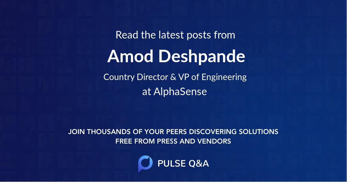 Amod Deshpande