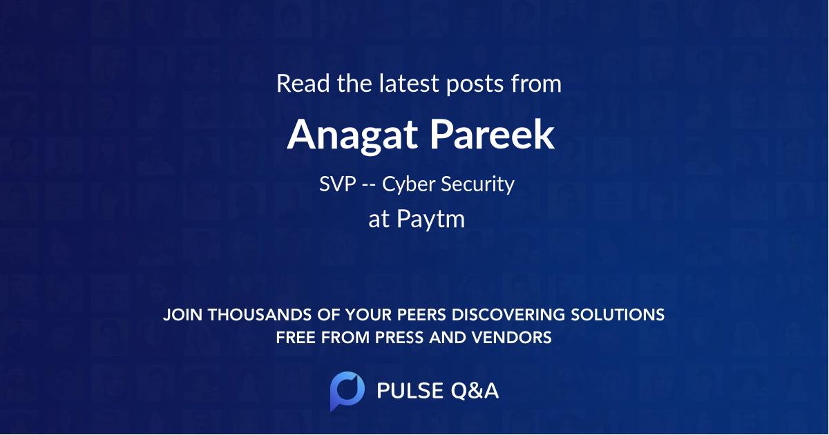 Anagat Pareek