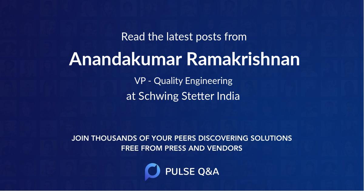 Anandakumar Ramakrishnan