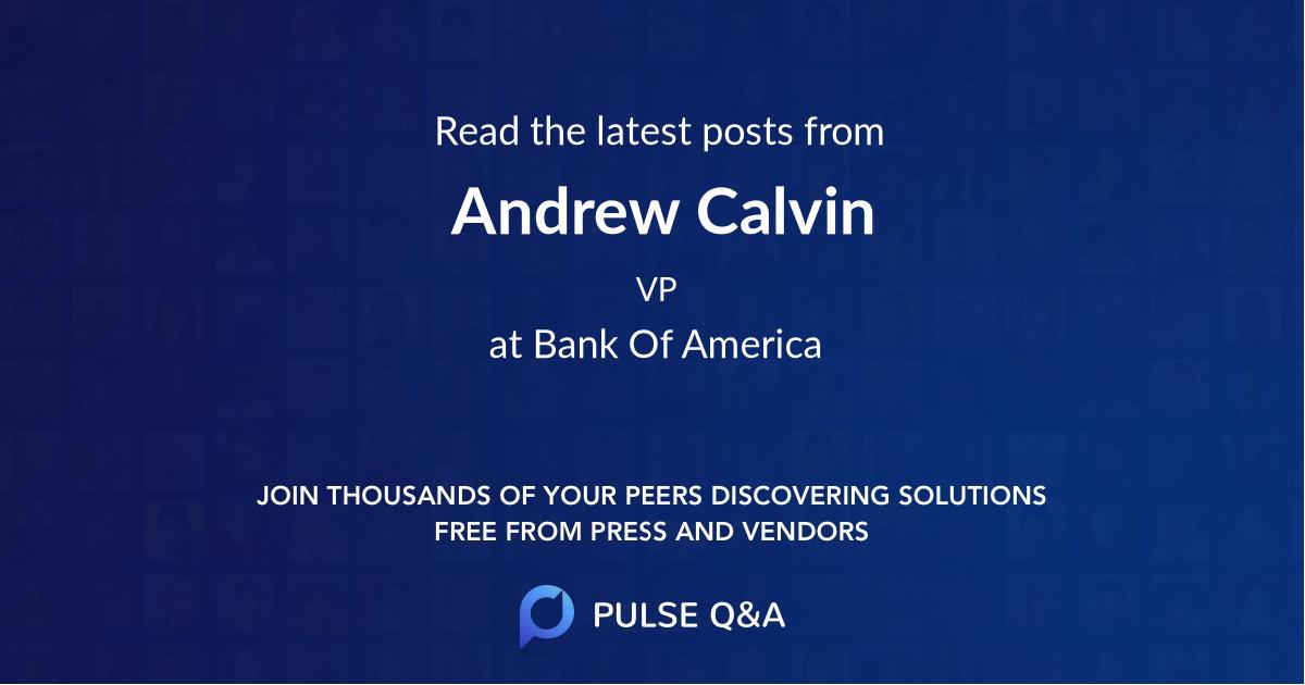 Andrew Calvin