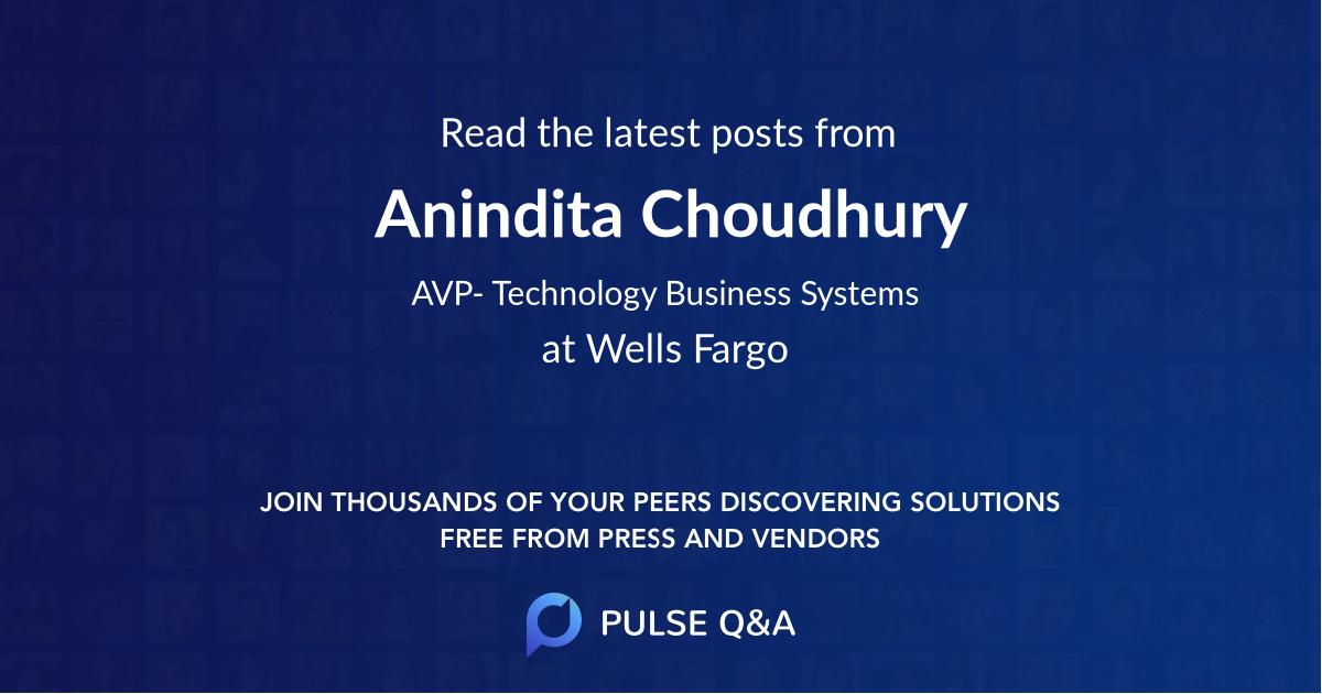 Anindita Choudhury