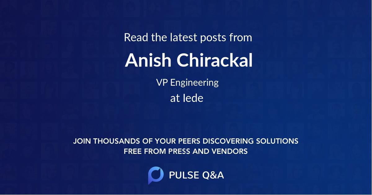 Anish Chirackal
