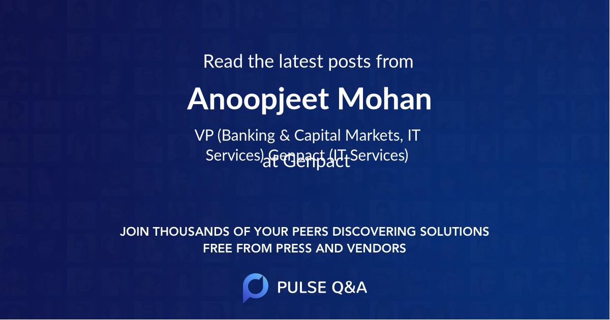 Anoopjeet Mohan
