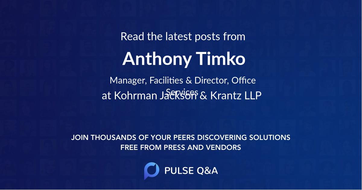 Anthony Timko