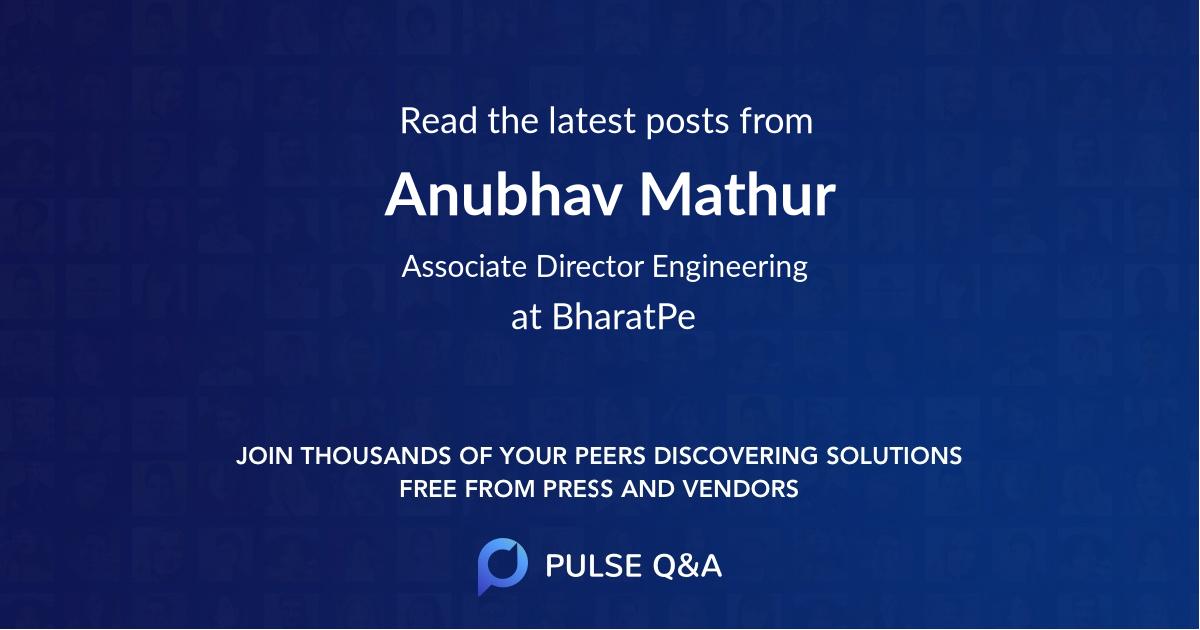 Anubhav Mathur