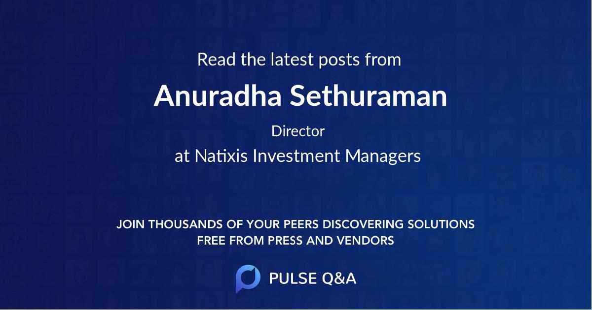 Anuradha Sethuraman