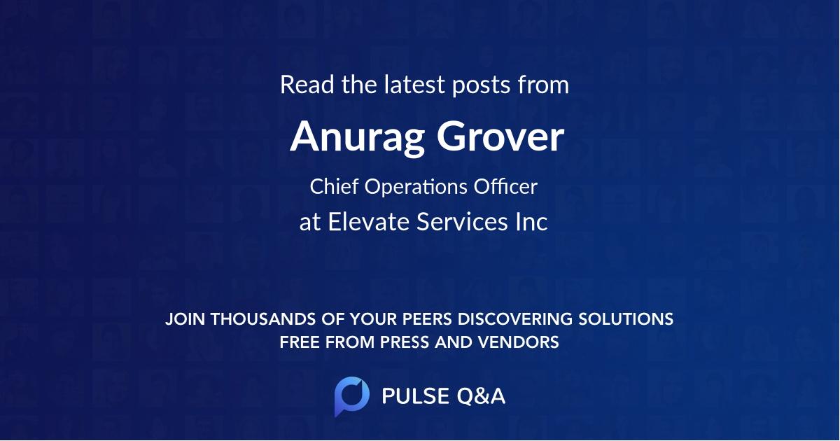 Anurag Grover