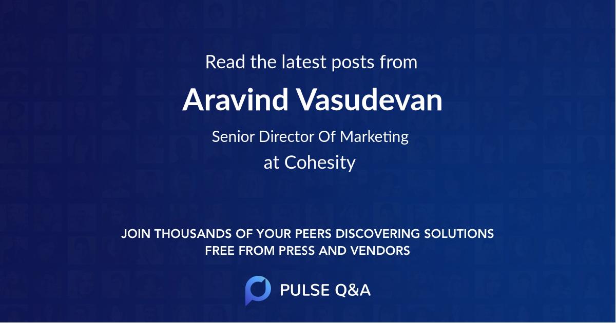 Aravind Vasudevan