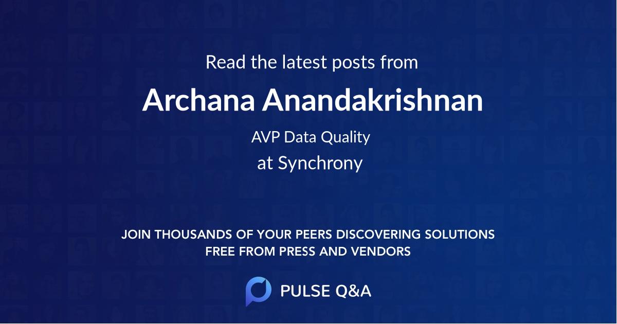 Archana Anandakrishnan