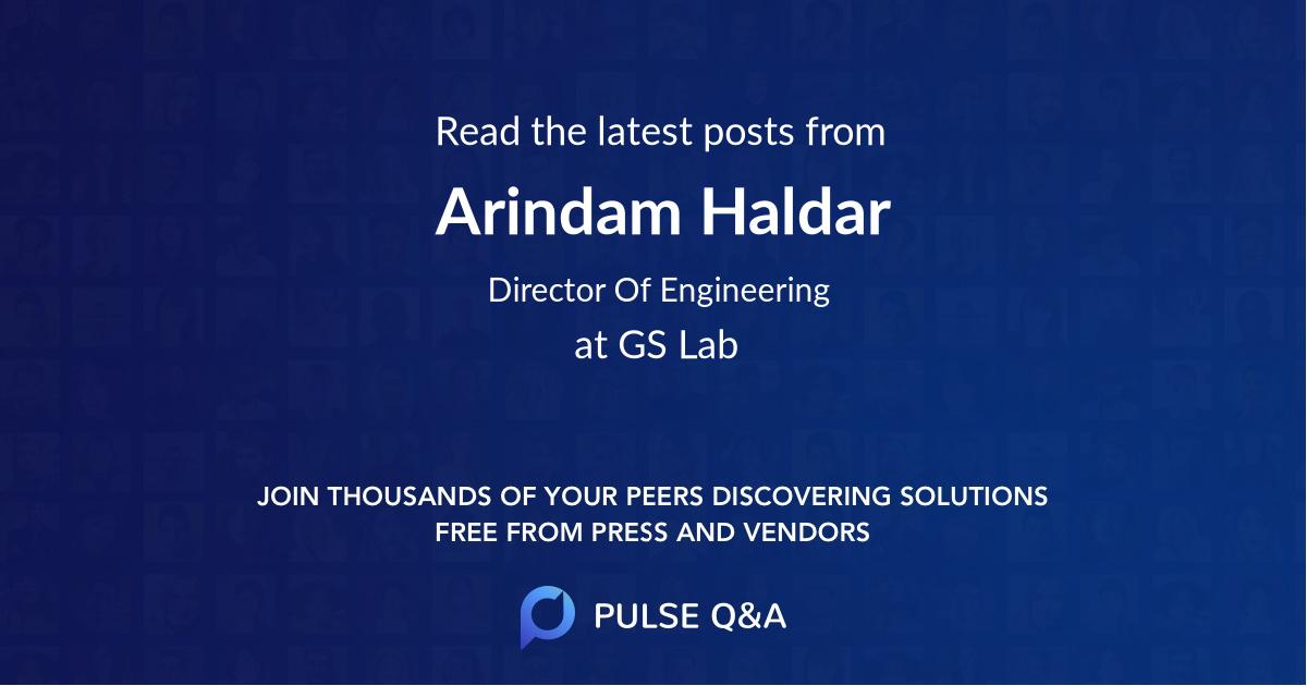 Arindam Haldar