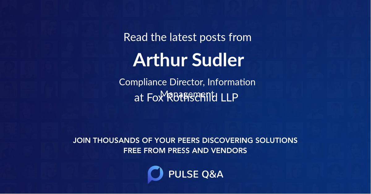 Arthur Sudler