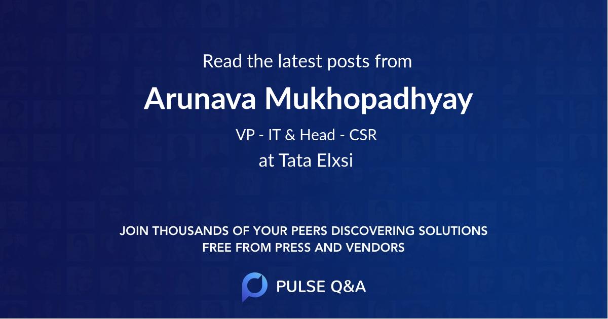 Arunava Mukhopadhyay