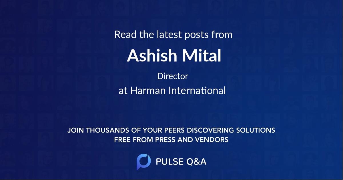 Ashish Mital
