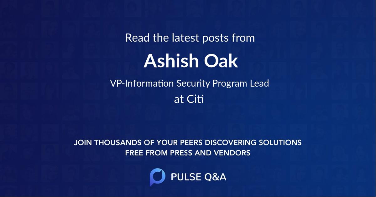 Ashish Oak