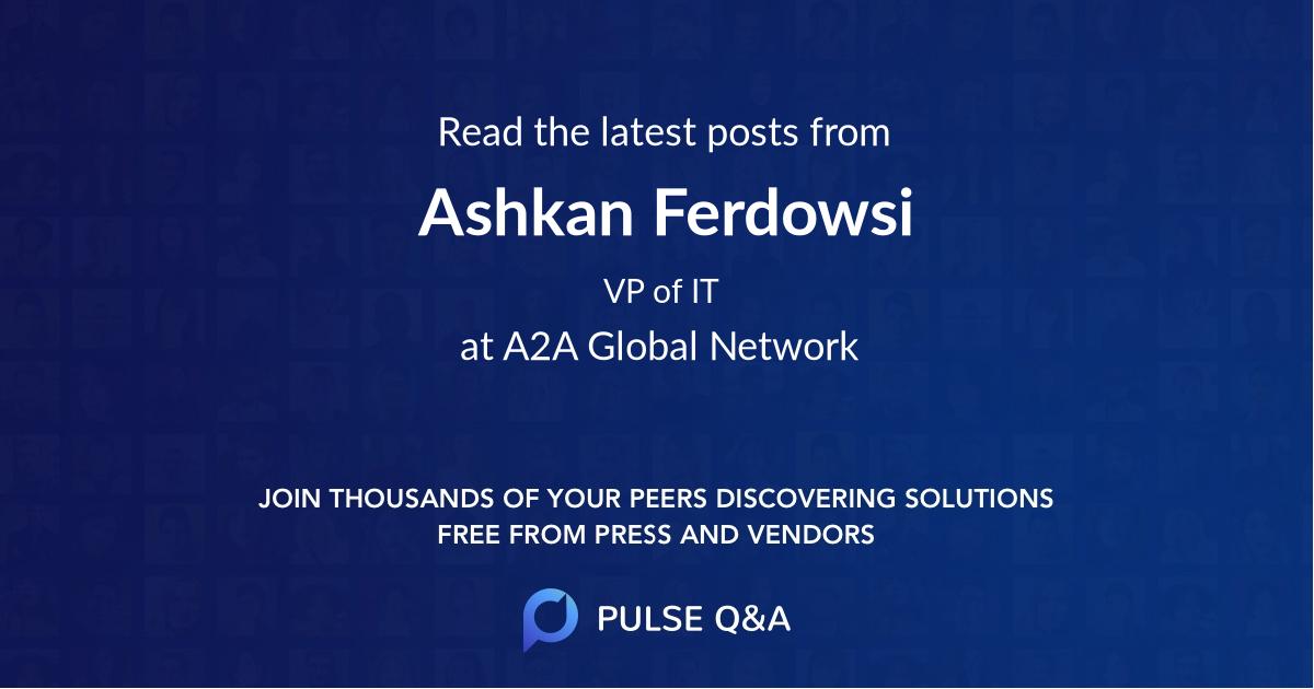 Ashkan Ferdowsi