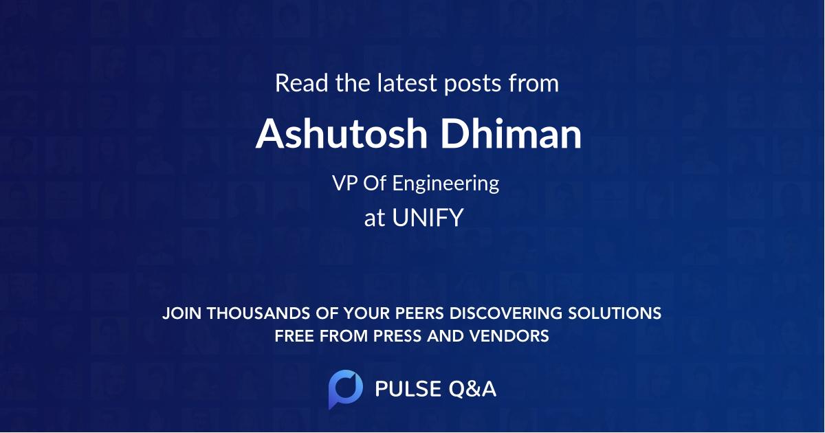 Ashutosh Dhiman