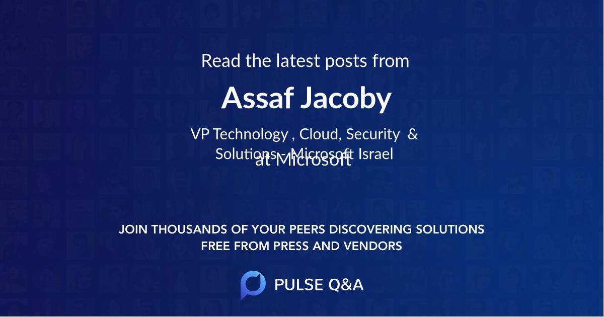 Assaf Jacoby