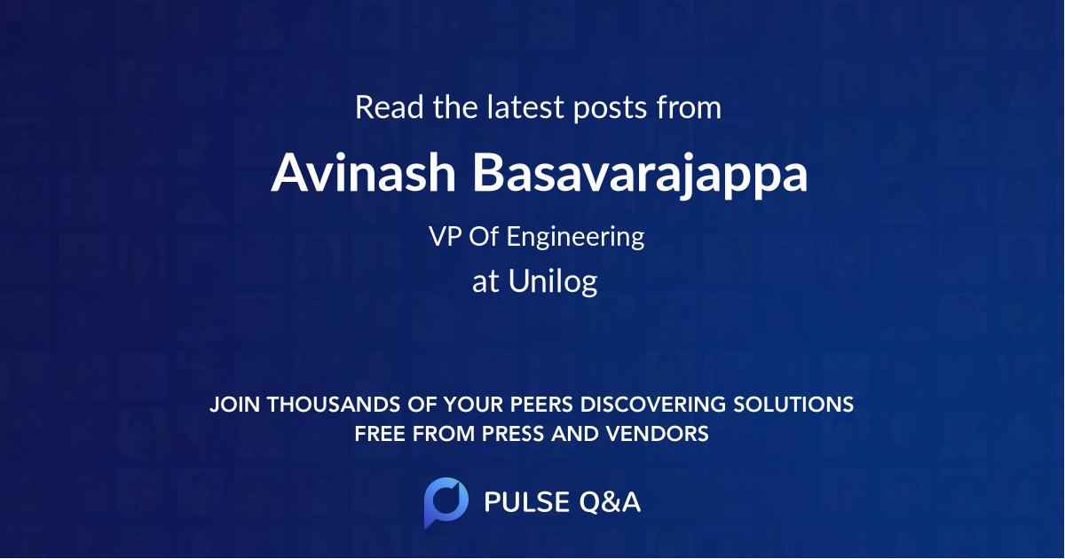 Avinash Basavarajappa