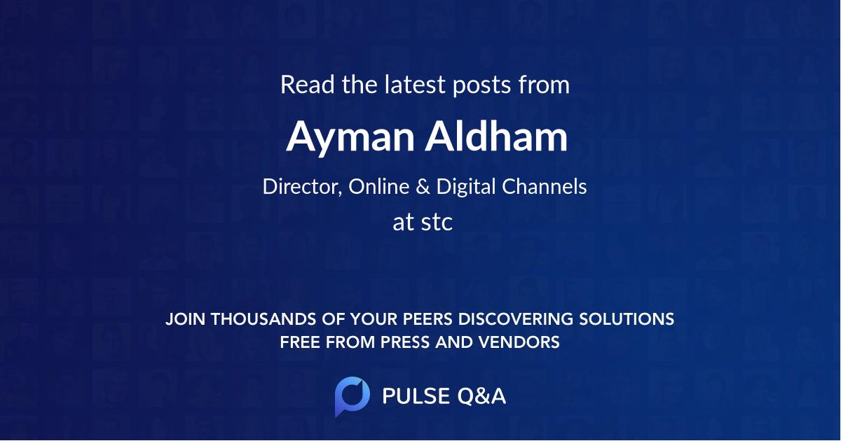 Ayman Aldham