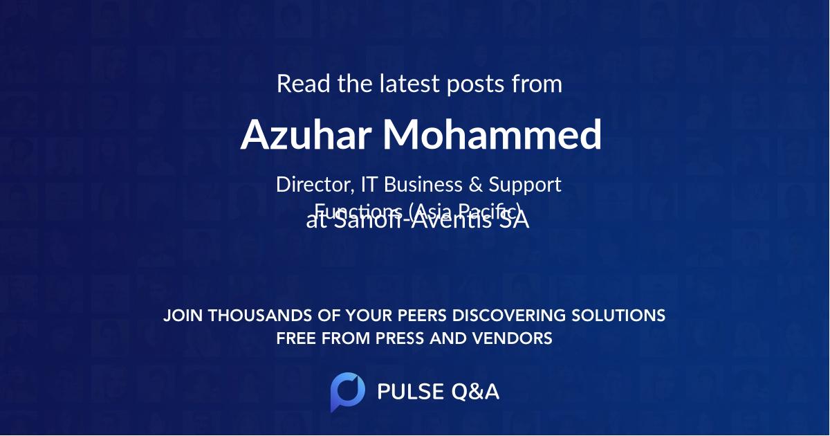 Azuhar Mohammed