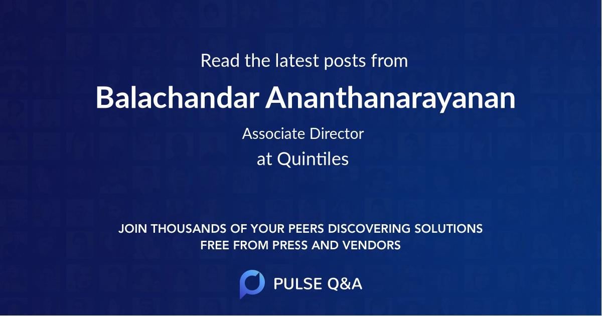 Balachandar Ananthanarayanan