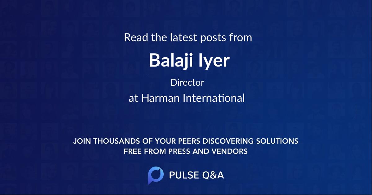 Balaji Iyer