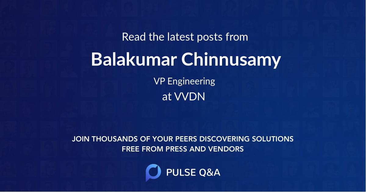 Balakumar Chinnusamy